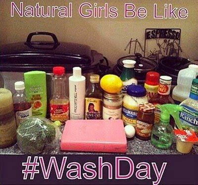 Natural Girls Be Like... #WashDay