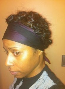 Heatless Curls on Flat-Ironed Natural Hair