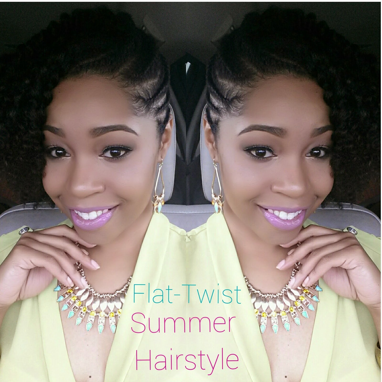 Flat-Twist Summer Style for Natural Hair