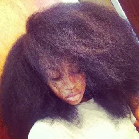 """Christine- """"Big hair was my motivation for transitioning."""""""