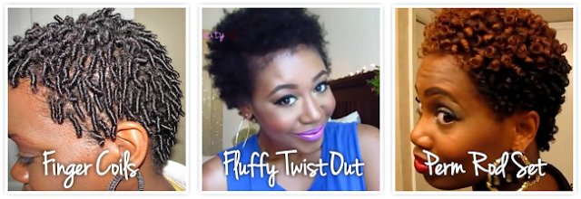 3 Short Natural Hair Styles for your TWA