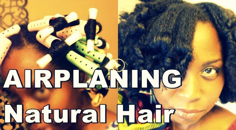 Stretch Natural Hair with the Airplaning Method! #NoHeat