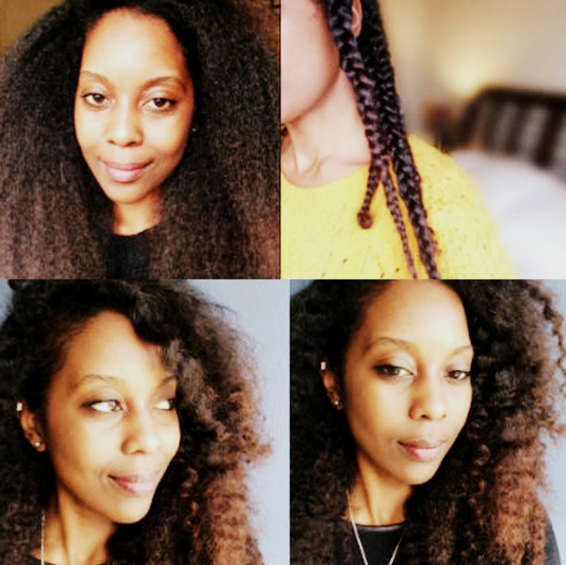 Braid-Out on Blown-Out Natural Hair! #DateNight