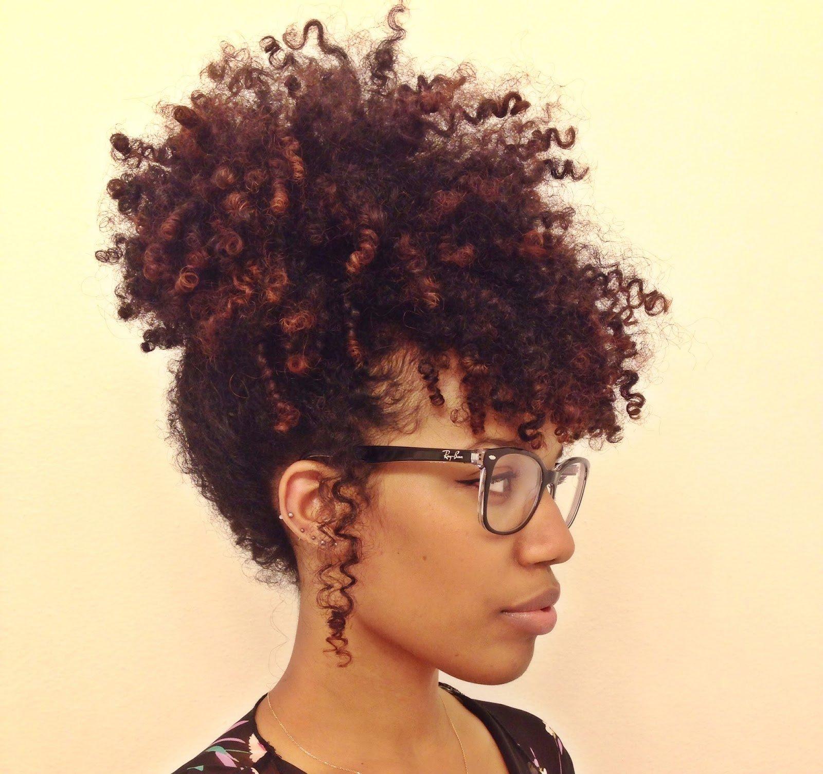Easy Pineapple Updo for Natural Hair