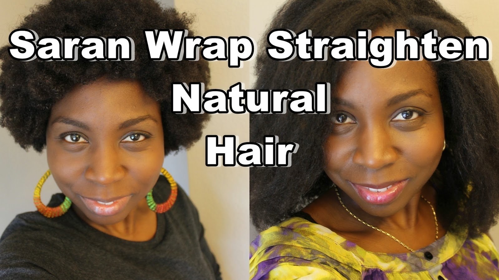 Stretch Your Natural Hair With Saran Wrap