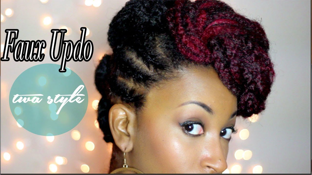 Faux Updo Tutorial for Short TWA, Natural Hair