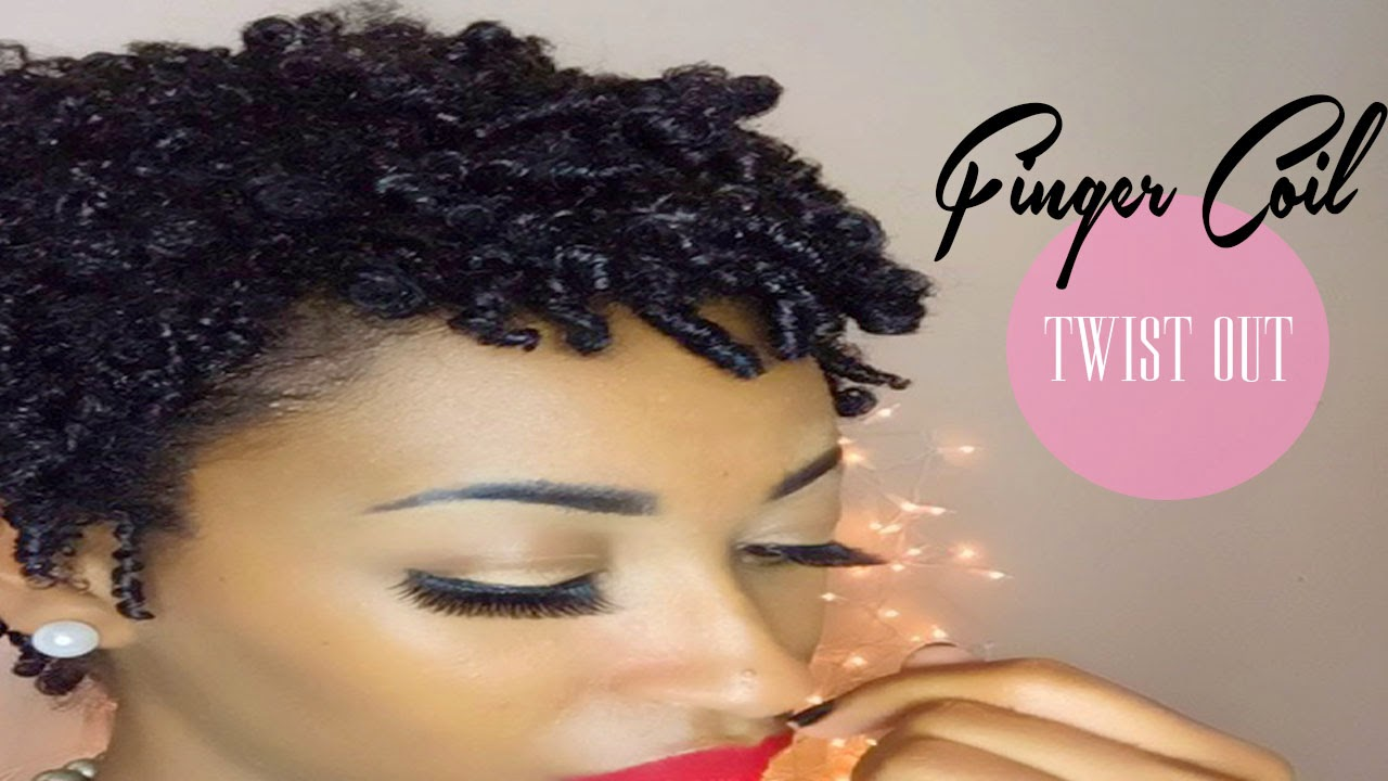 TWA Greatness- Finger Coil Twist-Out on Natural Hair