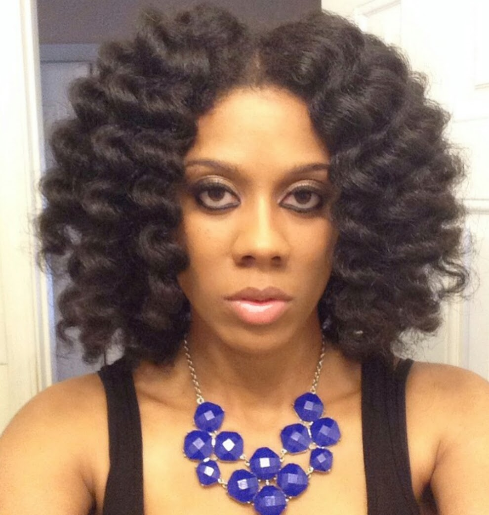 Cheating a Bantu Knot-Out with Flexi Rods