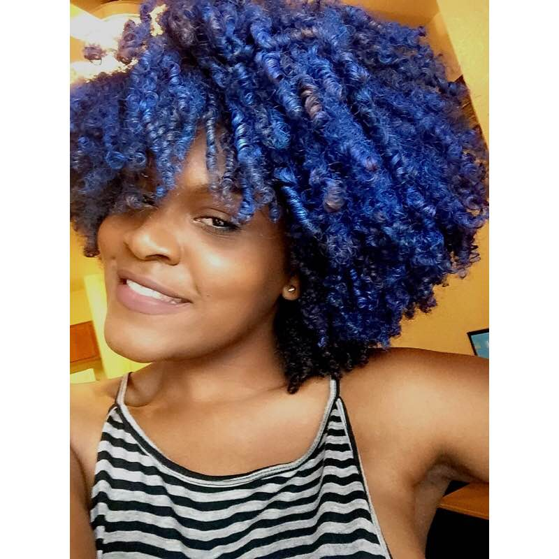"""Amanda Jean- """"Temporary color is a fun and simple way to jazz up your fro!"""""""