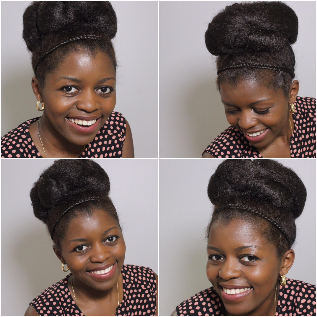 Elegant Twisted High Bun for Special Occasions