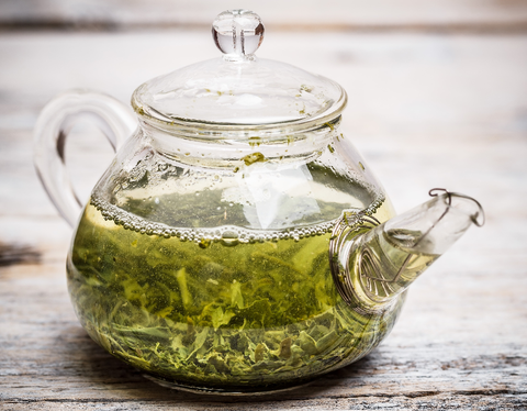 Green Tea Rinse for Natural Hair
