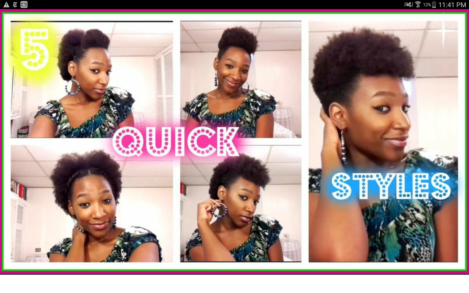 5 Quick Natural Hair Styles