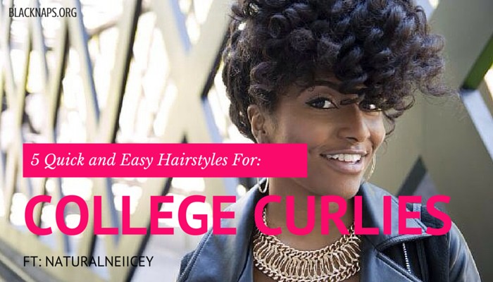 5 Easy Hairstyles for the College Curly Girl!
