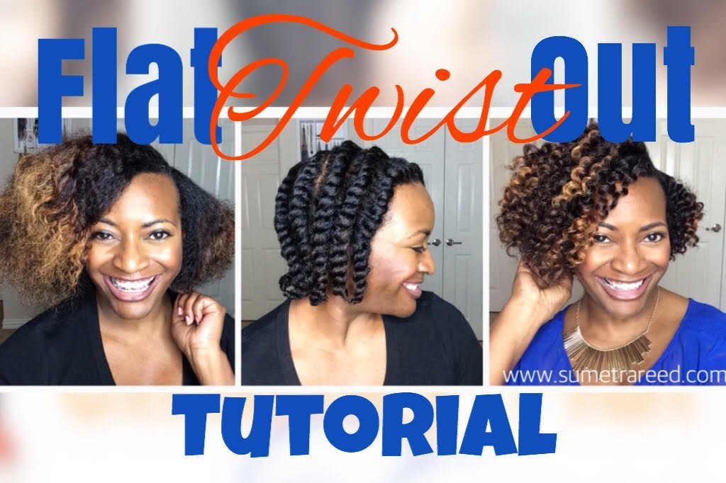 Flat Twist-Out Tutorial on Dry Hair
