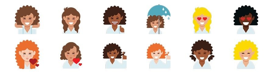Dove Launches Curly-Haired Emojis for #LoveYourCurls Campaign
