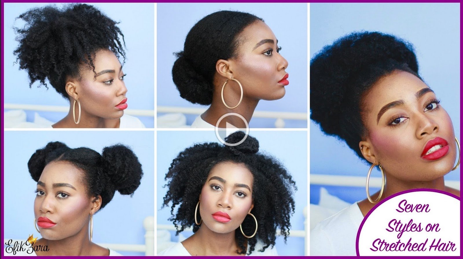 7 Super Easy Styles on Stretched Natural Hair