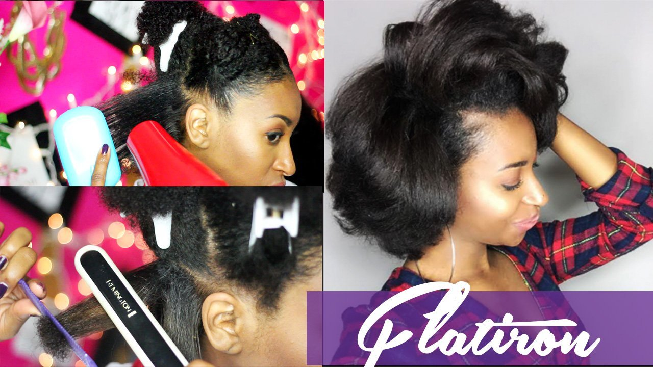 How to Flat Iron Natural Hair for Silky Results