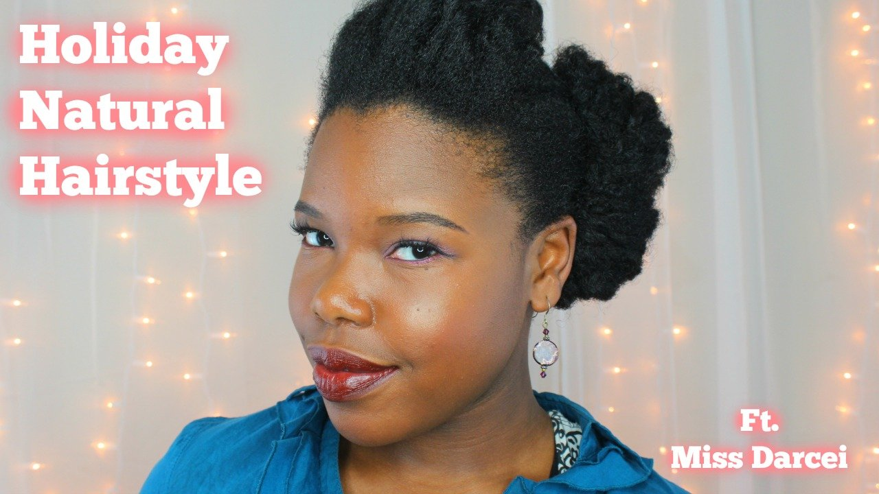 Natural Hair Style Inspiration for New Year's Eve