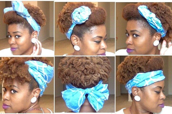 Cute Scarf Updos for Natural Hair!