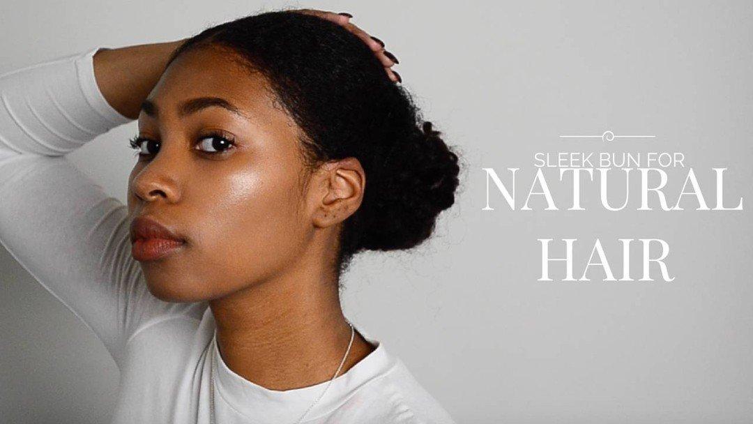 Sleek Bun Tutorial for Short & Thick, Natural Hair!