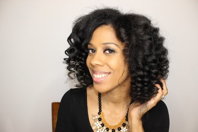 Easy Wand Curls on Natural Hair