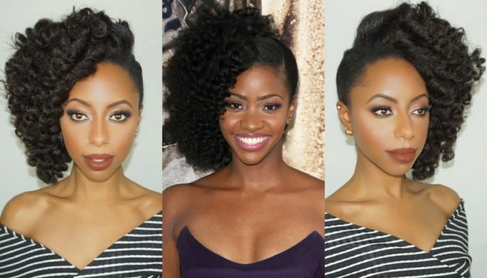 The Best Natural Hair Tutorials Inspired by Teyonah Parris' Red Carpet Looks