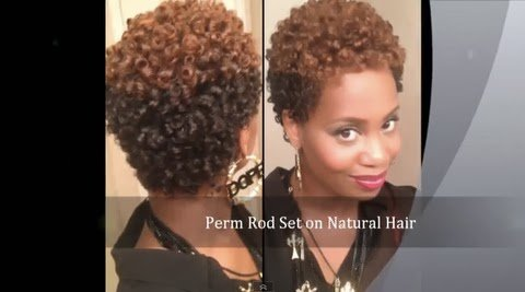 How I Get a Perfect Perm Rod Set on Short Natural Hair - With NO Heat
