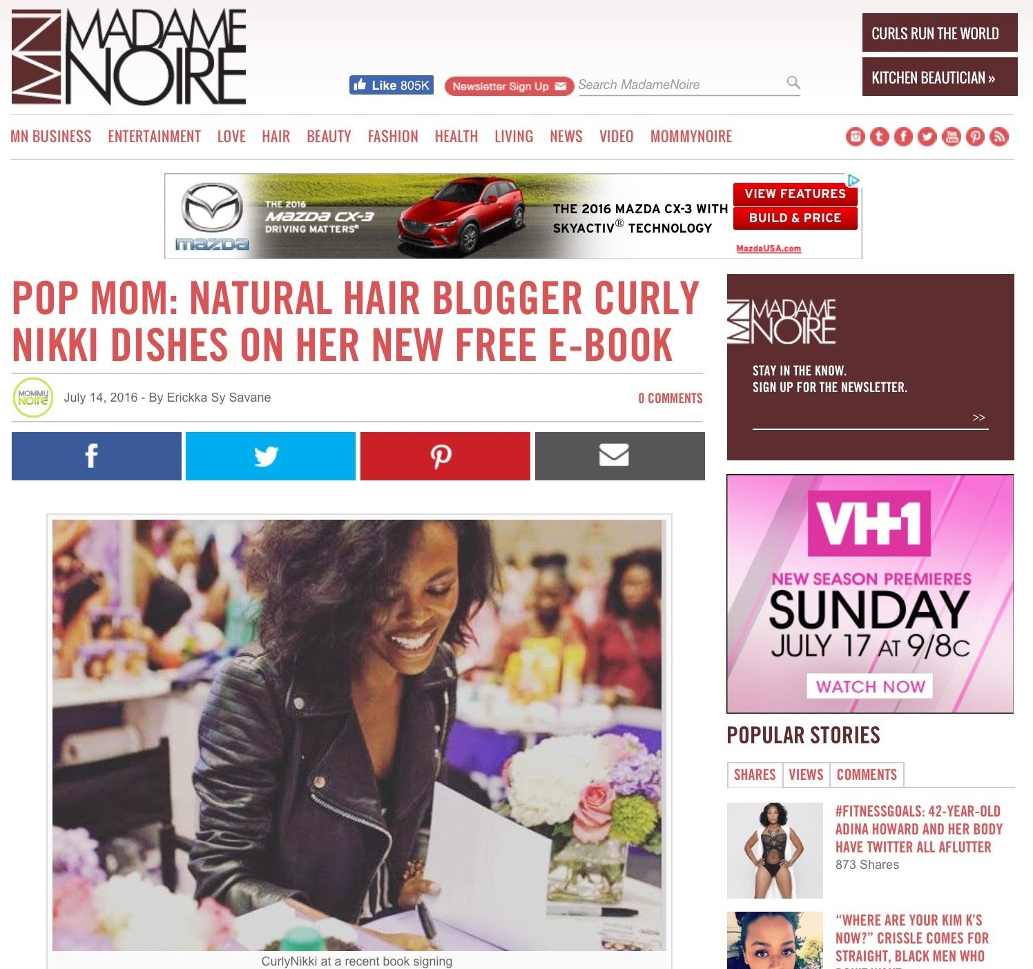 CurlyNikki Dishes on New Book, Life and Motherhood