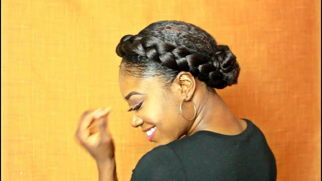 Quick and Simple Halo Braid on Natural Hair