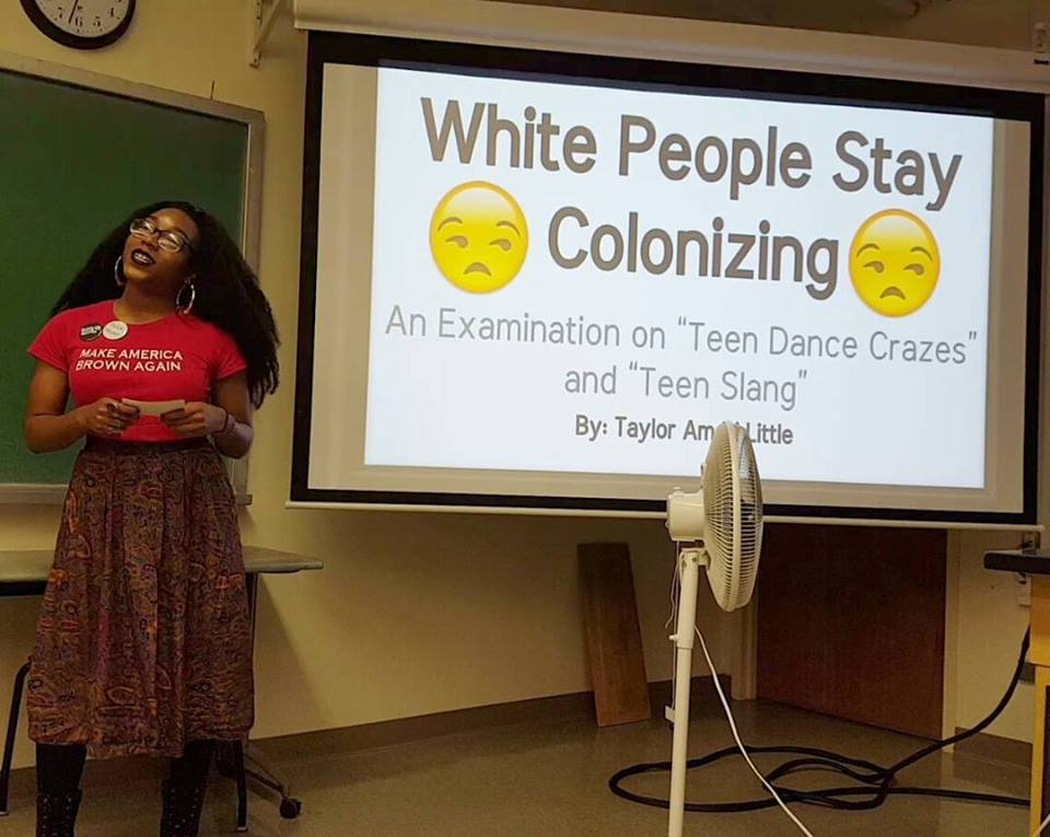 """A College Student's """"White People Stay Colonizing"""" Presentation Just Went Viral"""