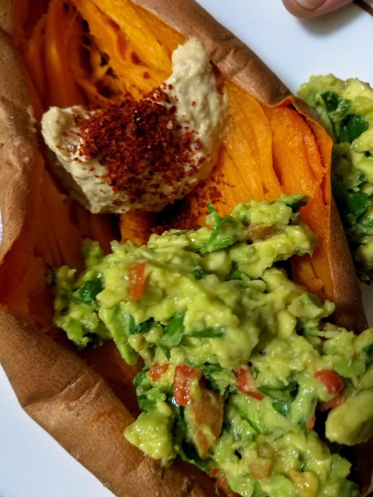 How To Make Guacamole-Stuffed Sweet Potatoes