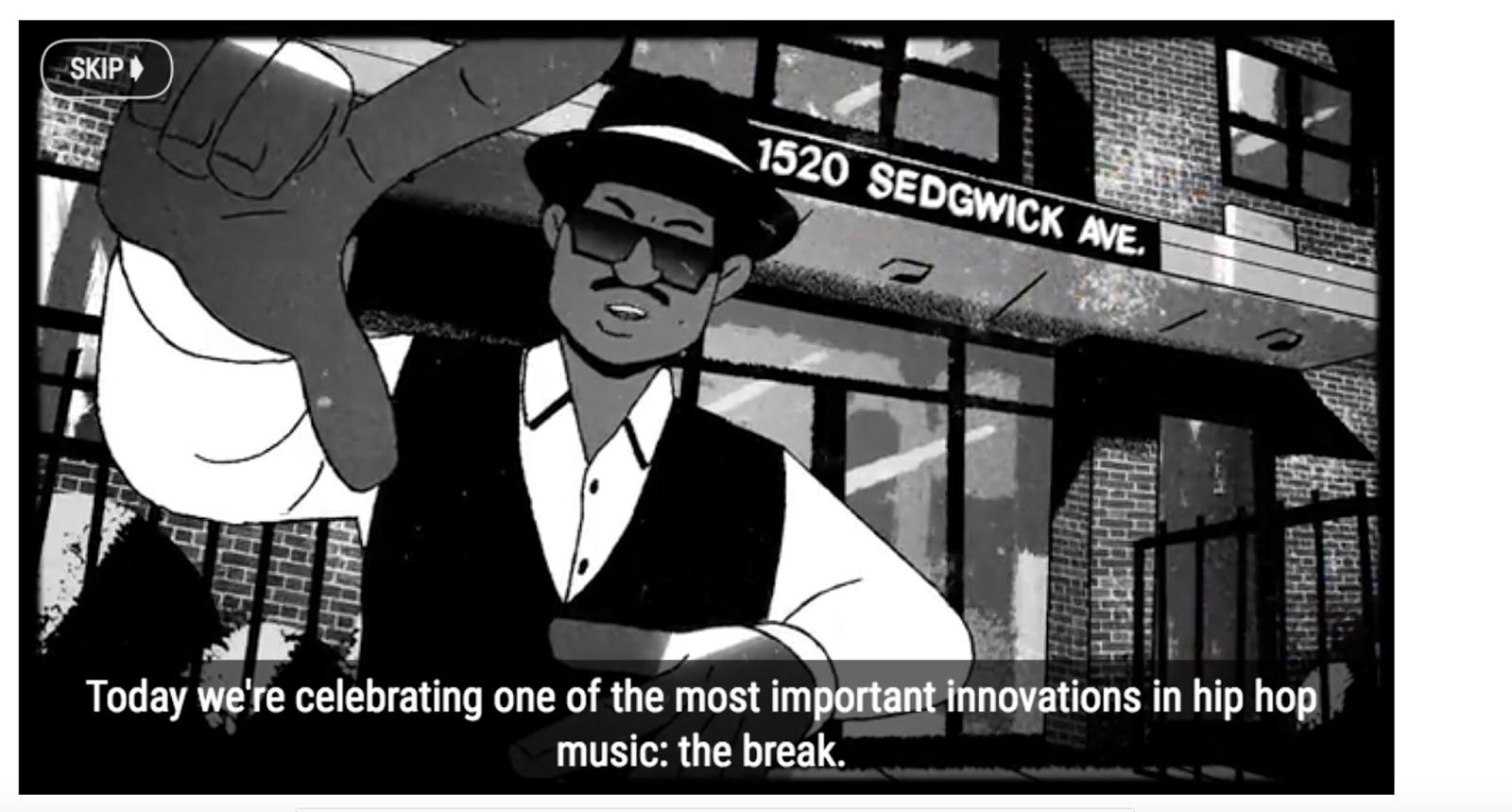 Google Homepage Celebrates 44th Anniversary of Hip Hop