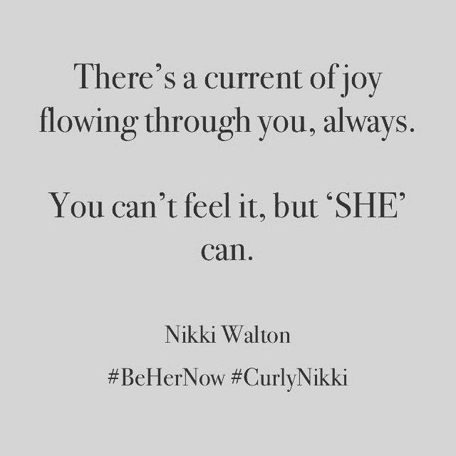 Feel The Current Of Joy. #BeHerNow