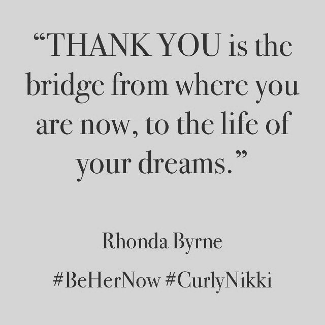 THANK YOU is the Bridge From Where You Are Now to the Life of Your Dreams