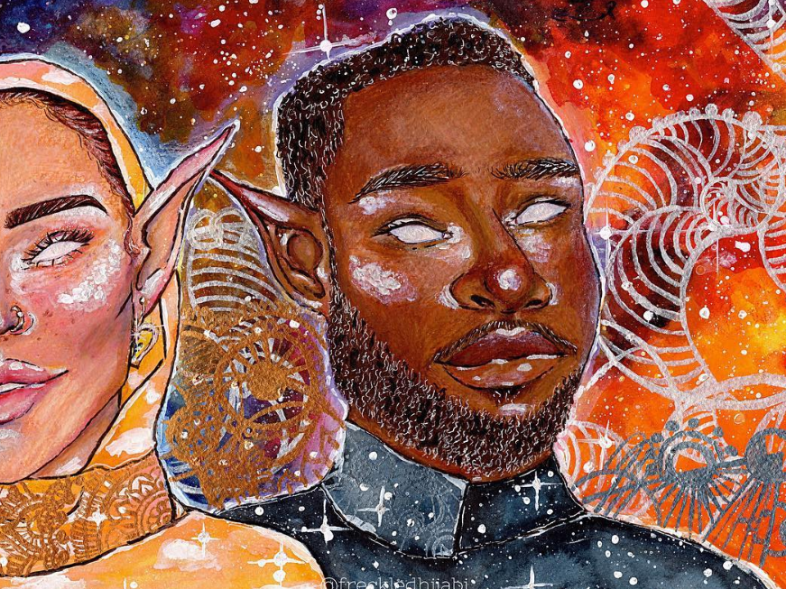 Meet the 18-Year-Old Artist That's Painting Black Women as Fairies