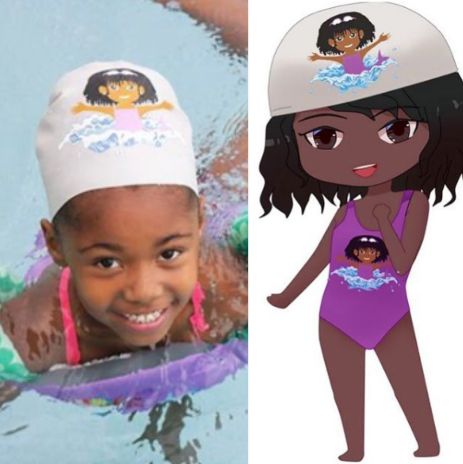 Swimmie Caps Motivate Black & Brown Kids to Swim