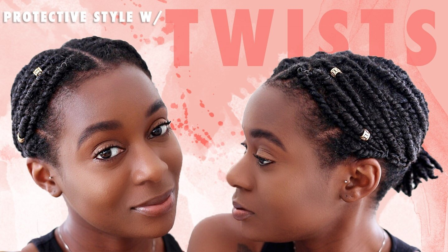 Quick & Easy Protective Style for Short Natural Hair | 2 Strand Twist Style