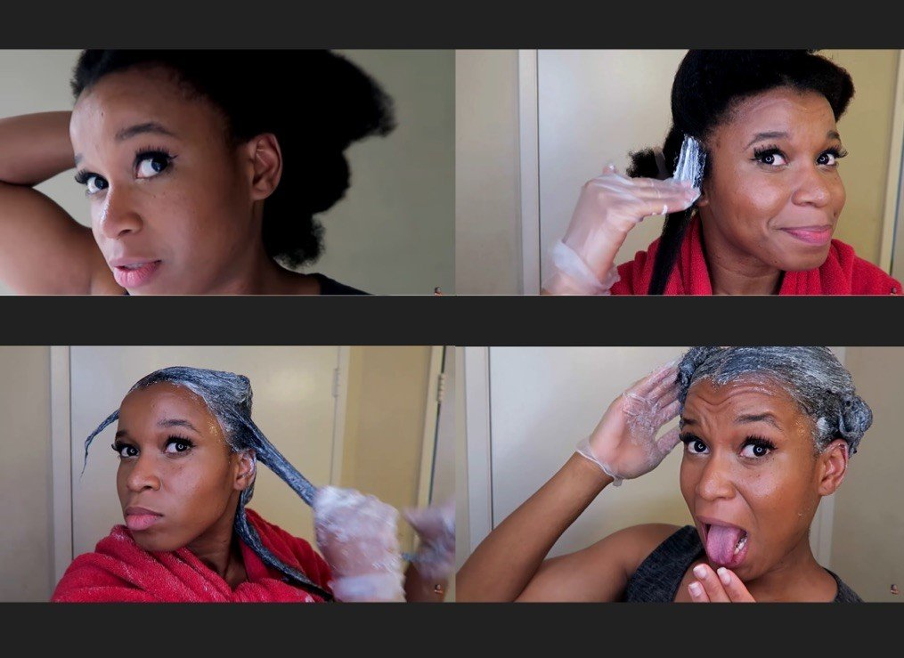 This Woman Relaxed Her Hair (at home) after 4 Years Natural & Here are the Results
