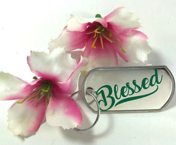 Find Out If You Won a 'Blessed' Key Chain by WriteNowFaithDesigns!