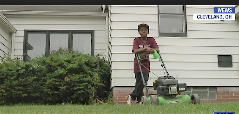 Neighbor Calls Police on a 12-year-old Boy for Mowing the Wrong Lawn & Now His Business is on Fiyah!