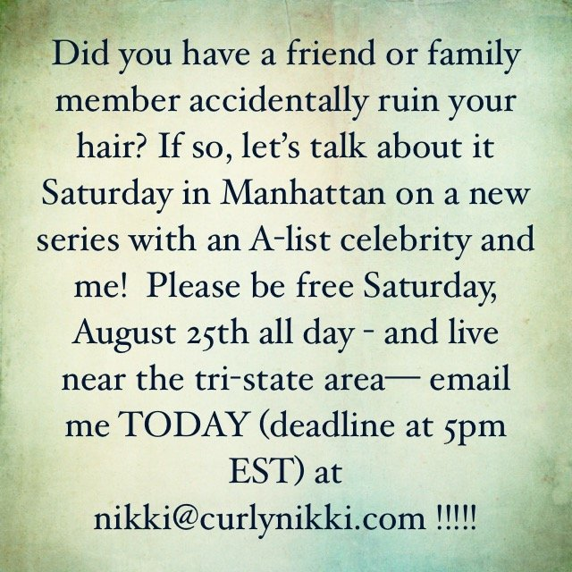 Did a Friend or Family Member Ever Ruin Your Hair? Join Nikki & an A-List Celeb in NYC This Sat. to Chat About it!
