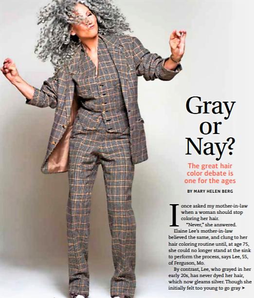 Nikki's Mom Talks Graying Gracefully in USA Today!