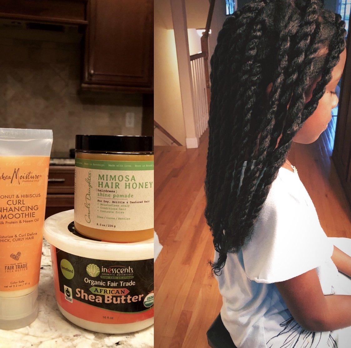 Maintaining Gia's Waist Length Natural Hair