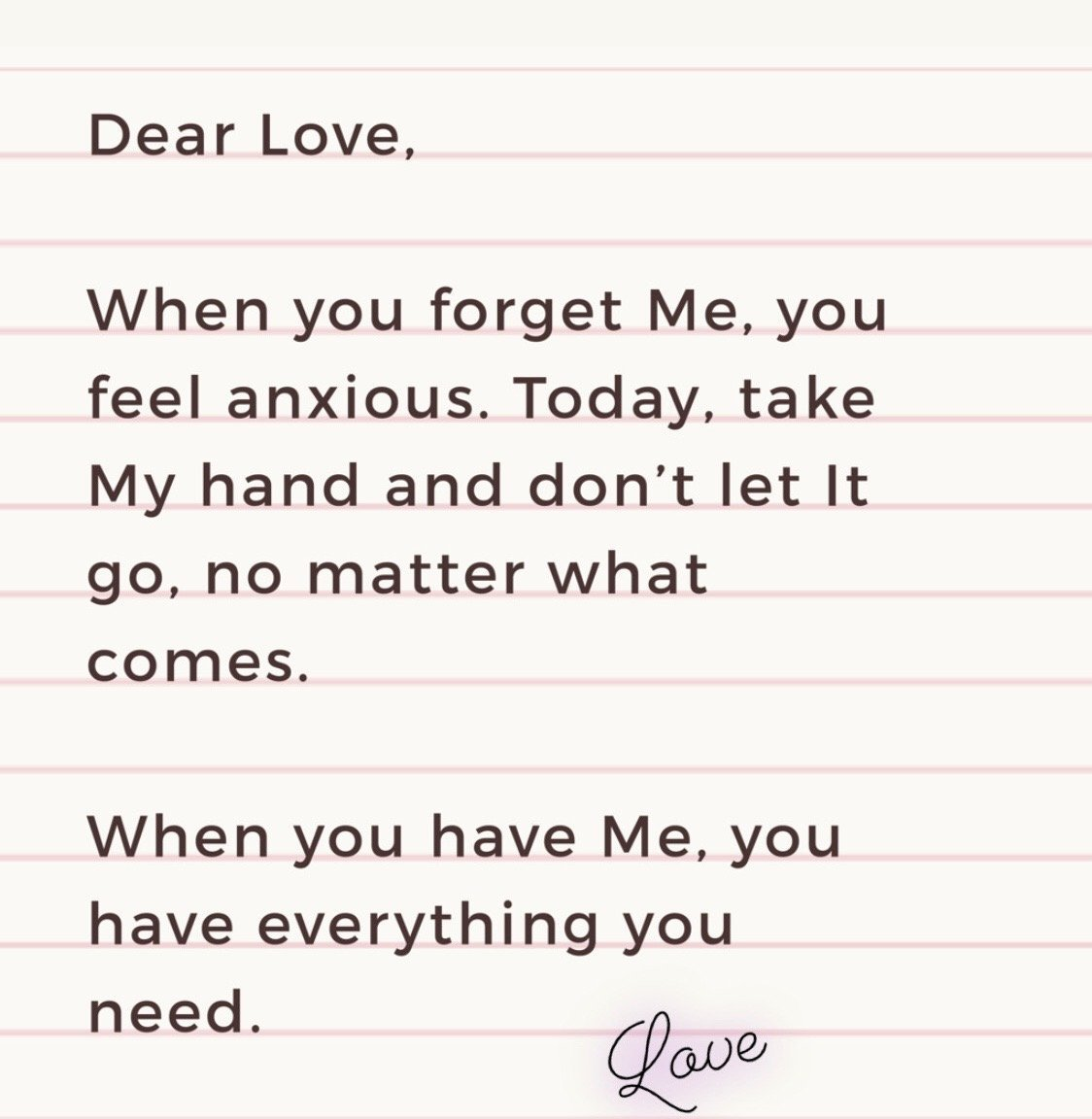 Love Says... 'See Only Me'