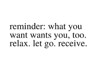 What You Want, Wants You, Too! (but you have to be YOU to receive it!)
