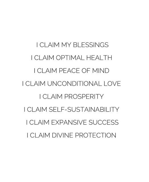 Claim Your Blessings.